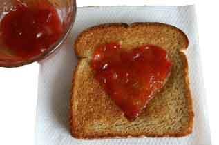 toast med hjerte